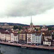 Limmatquai In Zurich Switzerland Art Print
