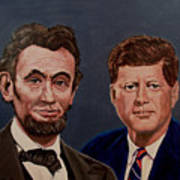 Lincoln And Kennedy Art Print