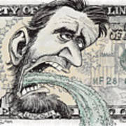 Lincoln Barfs Art Print
