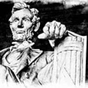 Lincoln Carved Art Print