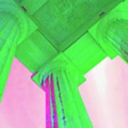 Lincoln Column Green Art Print