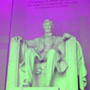 Lincoln In Purple Art Print