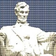 Lincoln Memorial - Dark Blue Art Print