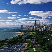 Lincoln Park And Diversey Harbor Art Print