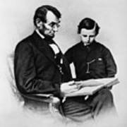 Lincoln Reading To His Son Art Print