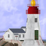 Lindesnes Norway Lighthouse Art Print