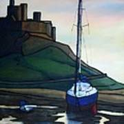 Lindisfarne At Low Tide. Art Print