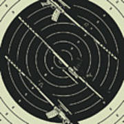Line Art Rifle Range Art Print