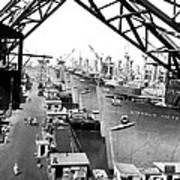 Line Of Victory Ships Art Print