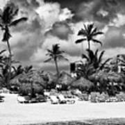 Lined Up At Punta Cana Art Print by John Rizzuto