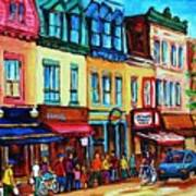 Lineup For Smoked Meat Sandwiches Art Print