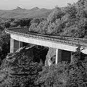 Linn Cove Viaduct Black And White Art Print