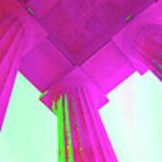 Linocln Column Pink Art Print