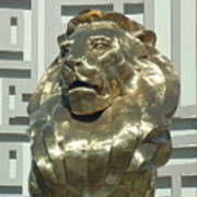 Lion At Mgm Art Print