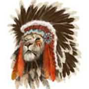 Lion Chief Art Print