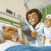 Lion Cub In Hospital Art Print