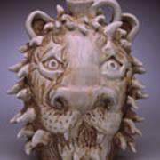 Lion Face Jug Art Print