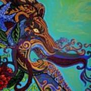 Lion Gargoyle Art Print