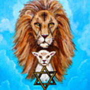 Lion Lies Down With A Lamb Art Print