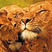 Lion Love #2 Art Print