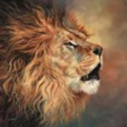 Lion Roar Profile Art Print