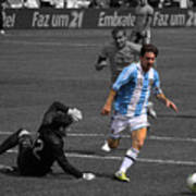 Lionel Messi The King Art Print