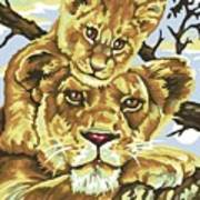 Lioness And Son Art Print