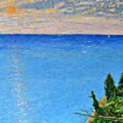 Lions Den Lake Michigan Art Print