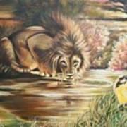 Blaa Kattproduksjoner           Watch  Out For  Yellow  Bird  Art Print