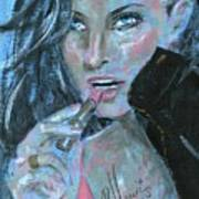 Lipstick And Leather Art Print