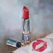Lipstick Kiss Art Print