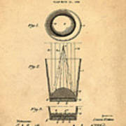 Liquershot Glass Patent 1925 Sepia Art Print
