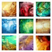 Liquid Color I By Madart Art Print