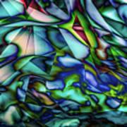 Liquid Geometric Abstract Art Print