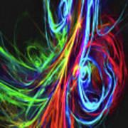 Liquid Neon Art Print