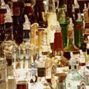 Liquor Bottles Art Print