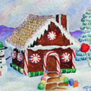 Lisa's Gingerbread House Art Print