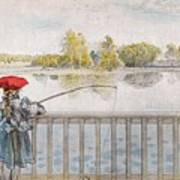 Lisbeth Angling. From A Home By Carl Larsson Art Print