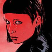 Lisbeth Salander Mara Rooney Art Print by Giuseppe Cristiano