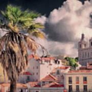 Lisbon Cityscape 4 Art Print