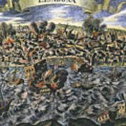 Lisbon Earthquake, 1755 Art Print