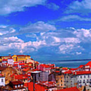 Lisbon Panorama Art Print