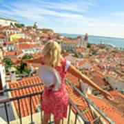 Lisbon Tourist Viewpoint Art Print