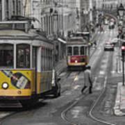 Lisbon Trams Art Print