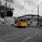 Lisbon Trolley 10c Art Print