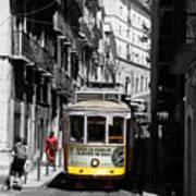 Lisbon Trolley 16c Art Print