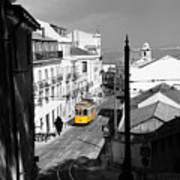 Lisbon Trolley 17c Art Print