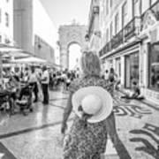 Lisbon Woman Lifestyle Art Print