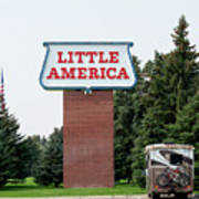 Little America Hotel Signage Vertical Art Print