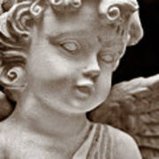 Little Angel - Sepia Art Print